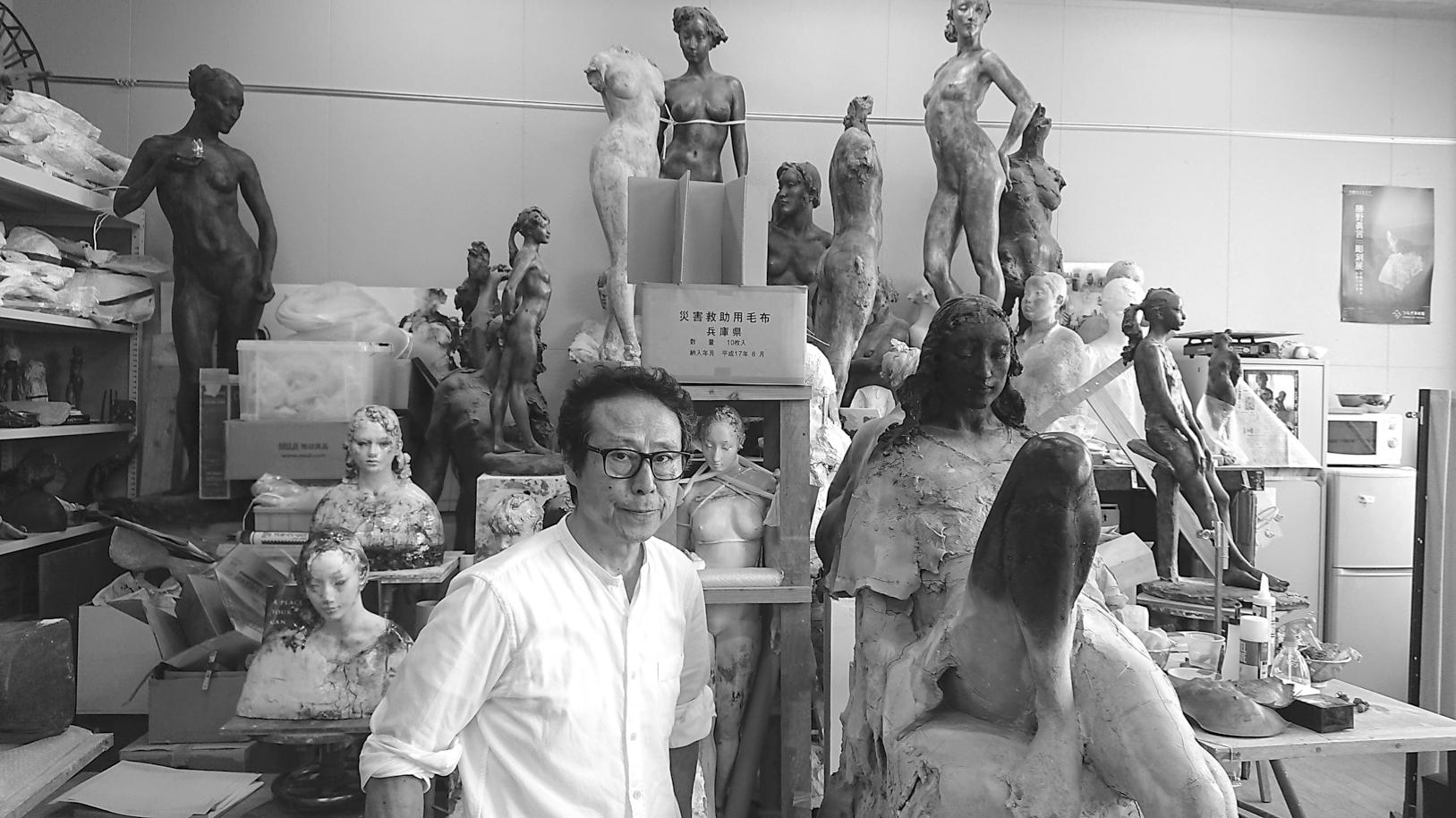 お金を目指さない人生はすがすがしい ふるさとの山河を女性像に投影したいという彫刻家・勝野眞言さんの哲学